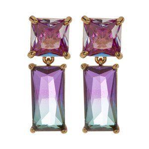 NEW Kate Spade Baguette CZ Blue Drop Earrings